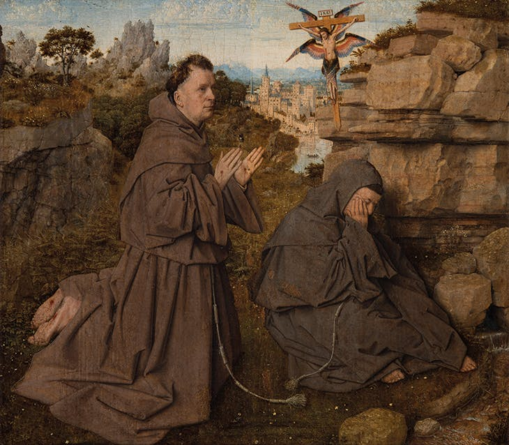 Saint Francis Receiving the Stigmata (c. 1435–40), Jan van Eyck.