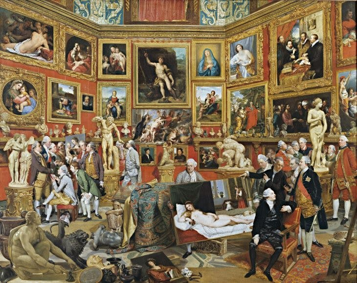 Tribuna of the Uffizi, Johann Zoffany. Royal Collection Trust. Photo: Royal Collection Trust/© HM Queen Elizabeth II 2020