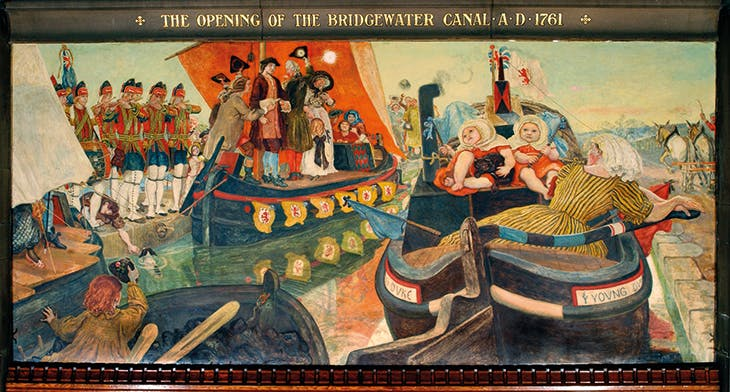 The Opening of the Bridgewater Canal, AD 1761 (1892), Ford Madox Brown.
