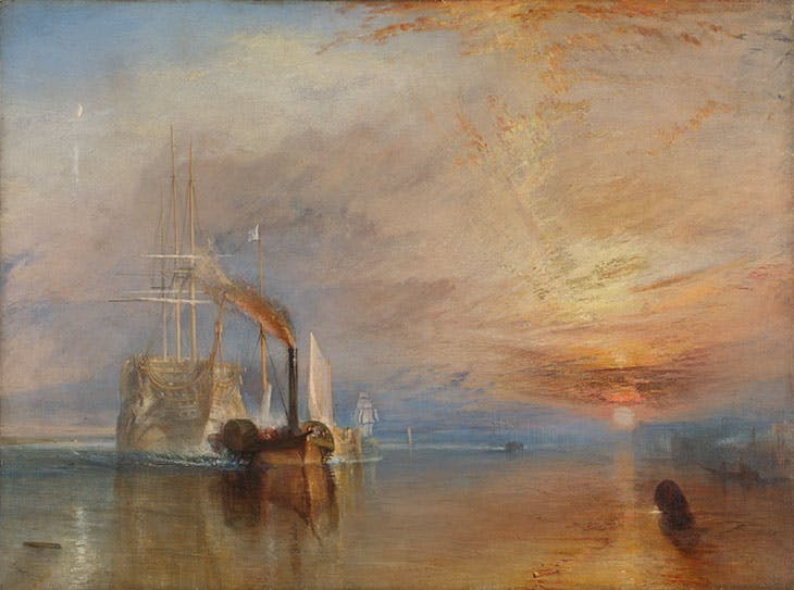 The Fighting Temeraire tugged to her last berth to be broken up, 1838 (1839), J.M.W. Turner.
