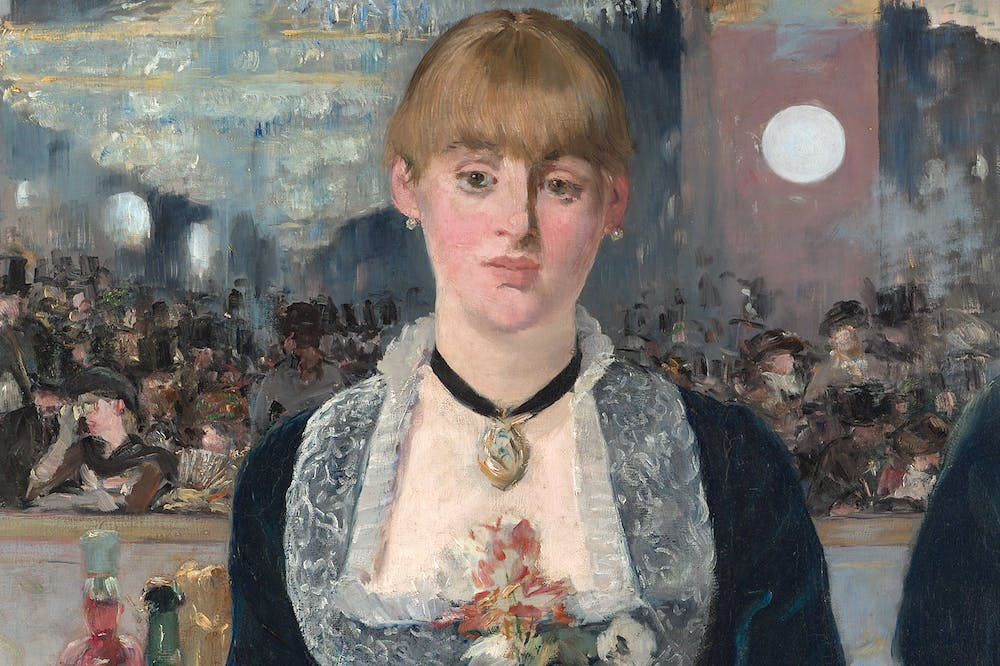 A Bar at the Folies-Bergère (detail; 1881–82), Édouard Manet. Courtauld Gallery, London
