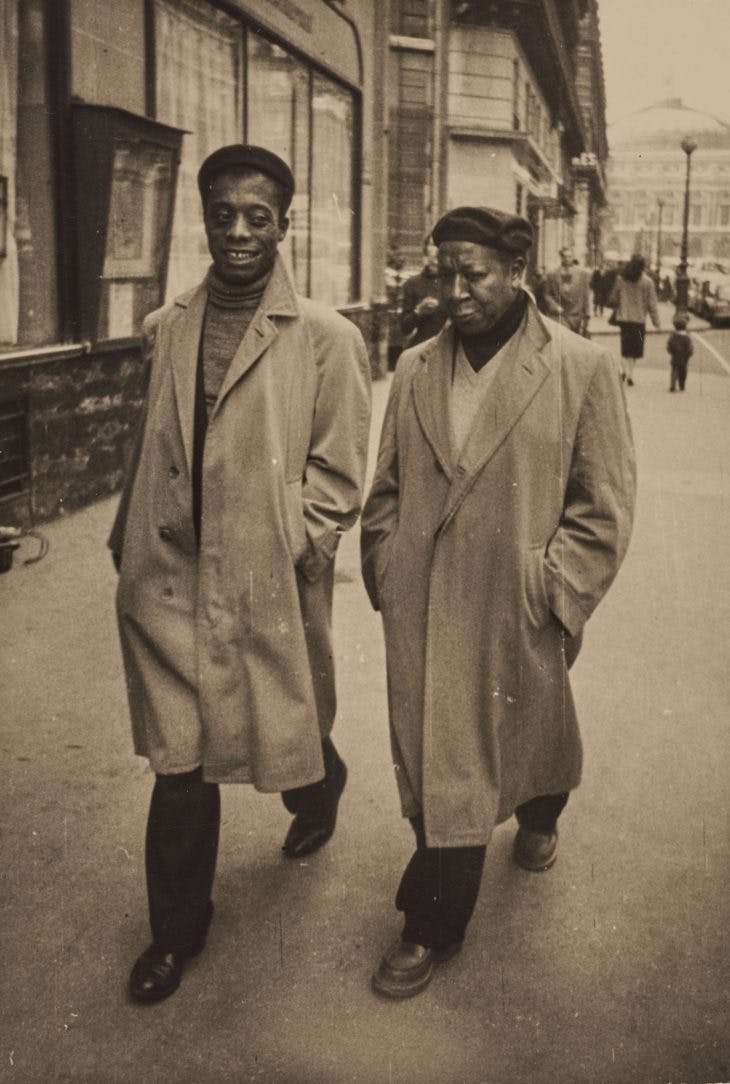 Photograph of James Baldwin and Beauford Delaney in Paris, c. 1960. Estate of Beauford Delaney
