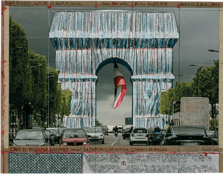 L'Arc de Triomphe (Project for Paris) Place de l'Étoile – Charles de Gaulle (2019), Christo.