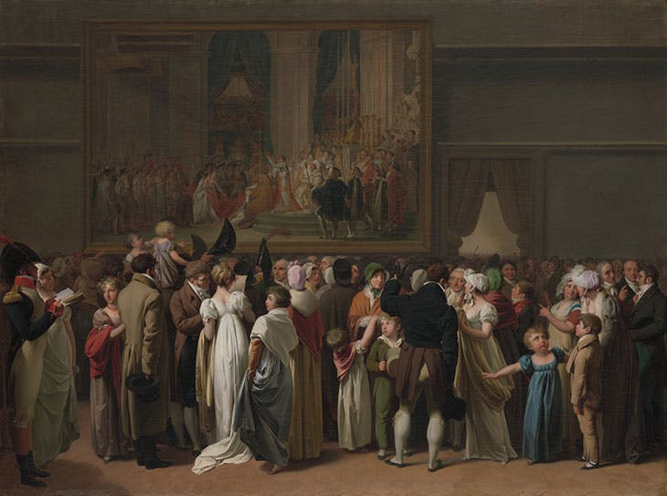 The Public Viewing David's 'Coronation' at the Louvre (1810), Louis Léopold Boilly. Metropolitan Museum of Art, New York