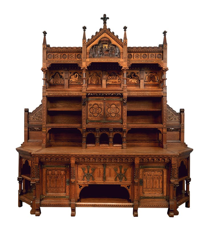'Pericles dressoir' (1866), designed by Bruce J. Talbot and manufactured by Holland & Sons.
