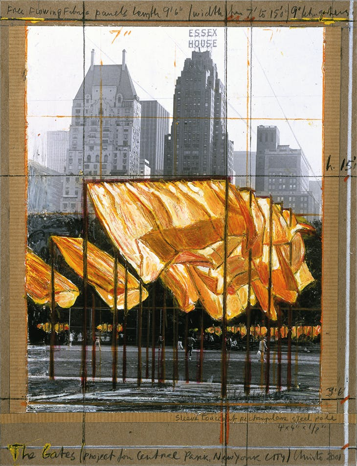 The Gates (Project for Central Park, New York City) (2001), Christo.