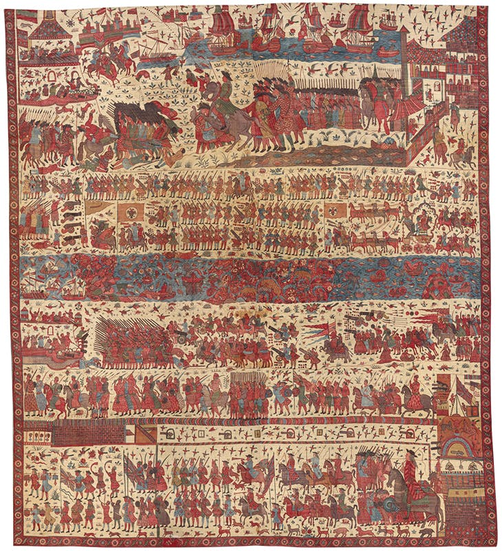 Hanging depicting a European conflict in south India (before 1763). Metropolitan Museum of Art