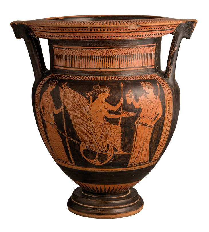 Attic red-figure column krater (c. 440–430BC), attributed to the Duomo Painter