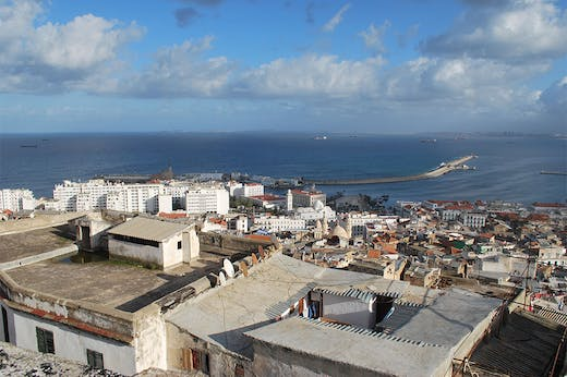 View of the port of Algiers from the Casbah, January 2020. Photo: Layli Faroudi