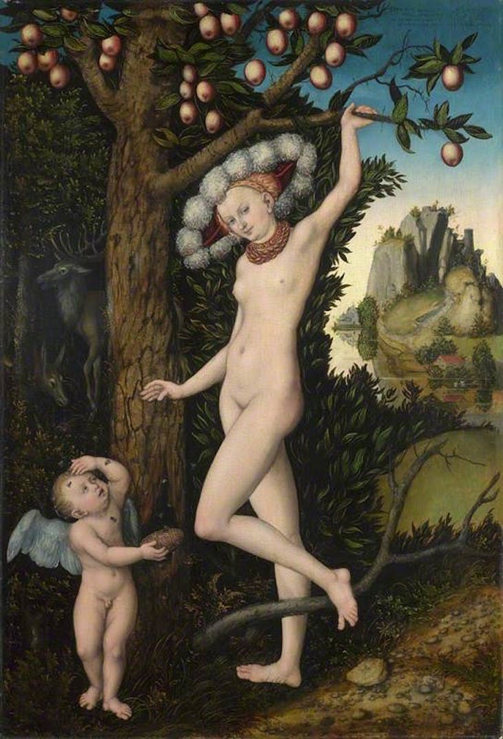 Cupid Complaining to Venus (1526), Lucas Cranach the Elder.