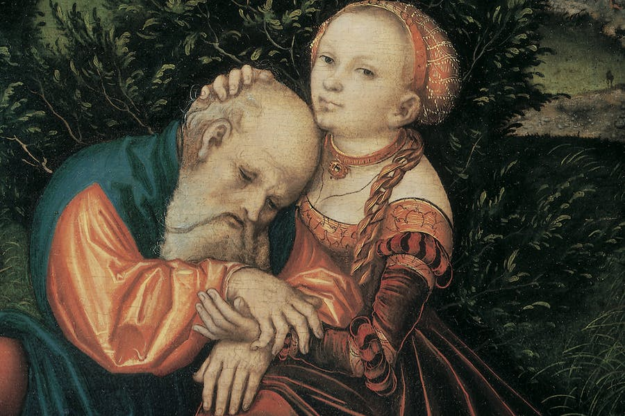 Lot and his Daughters (c. 1530), Lucas Cranach the Elder.