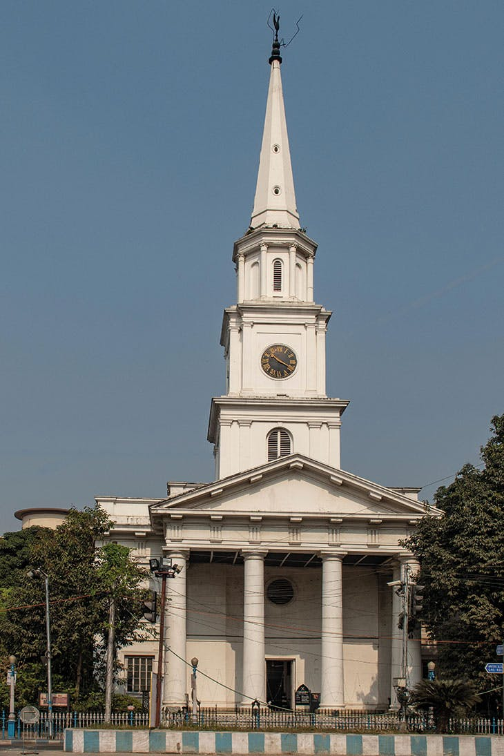 St Andrew's Church, constructed in 1815–18, on B.B.D. Bagh (formerly Dalhousie Square) in Kolkata, India.