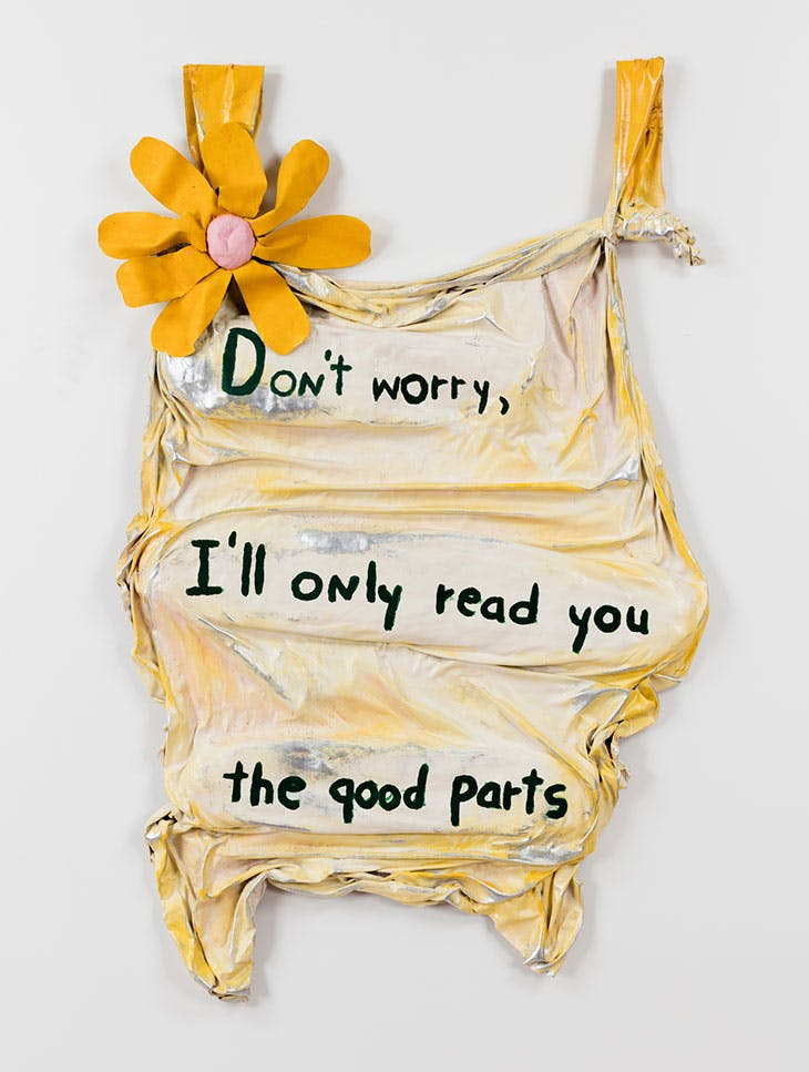 Don't worry, I'll only read you the good parts (1975), Ree Morton.