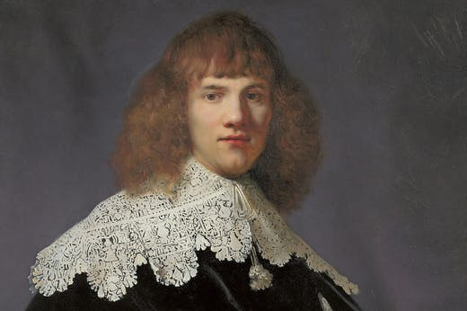 Portrait of a Young Gentleman (detail; 1633–34), Rembrandt.