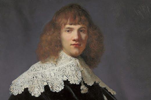 Portrait of a Young Gentleman (detail; 1633–34), Rembrandt.