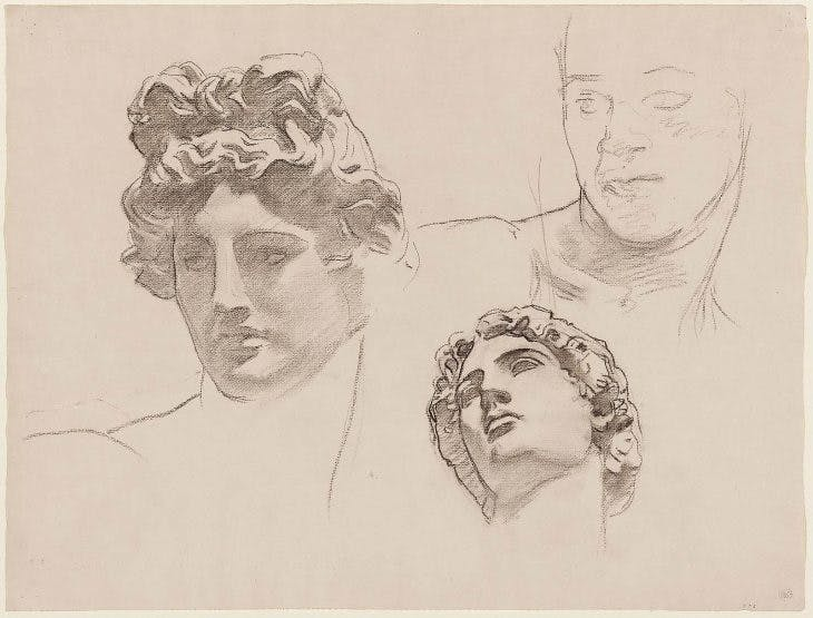 Study for Apollo in Classic and Romantic Art for the Rotunda of the Museum of Fine Arts, Boston (1916–21), John Singer Sargent. Museum of Fine Arts, Boston
