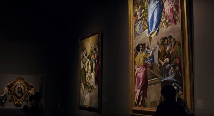 Screenshot from the video tour of 'El Greco: Ambition & Defiance' at the Art Institute of Chicago