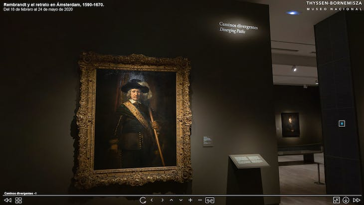 Screenshot from the virtual Rembrandt exhibition at the Museo Nacional Thyssen-Bornemisza