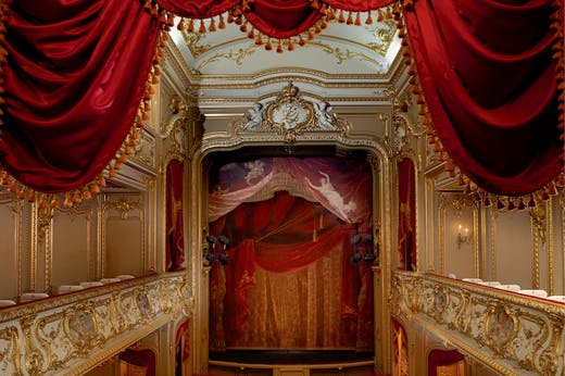 The Yusupov Palace theatre, designed by Andrey Mikhailov in the 1830s,