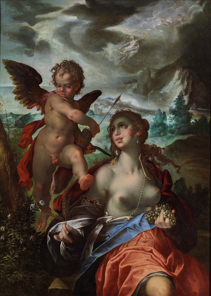 Venus and Cupid with Mercury and Psyche (c. 1600), Bartholomeus Spranger.