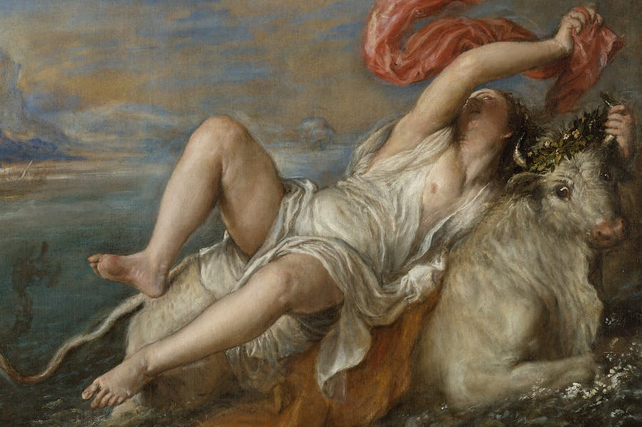The Rape of Europa (1560–62), Titian.
