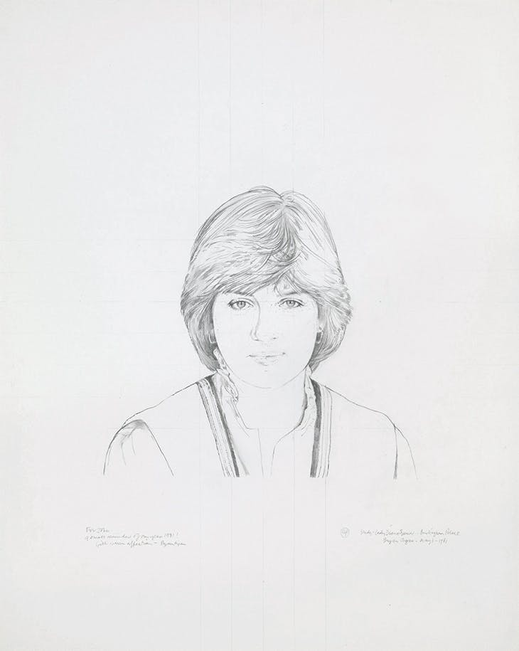 Lady Diana Spencer (1981), Bryan Organ. Christopher Kingzett Fine Art, £28,000