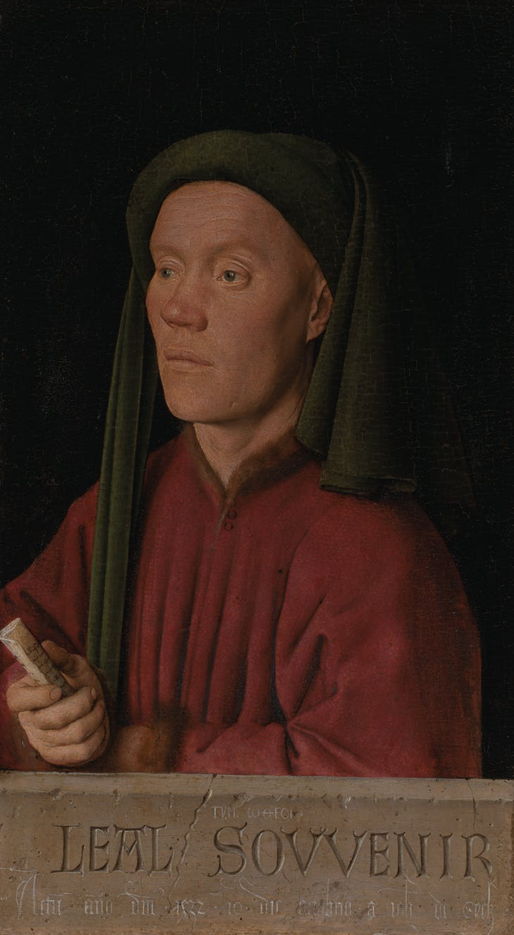 Portrait of a Man ('Leal Souvenir') (1432), Jan van Eyck.