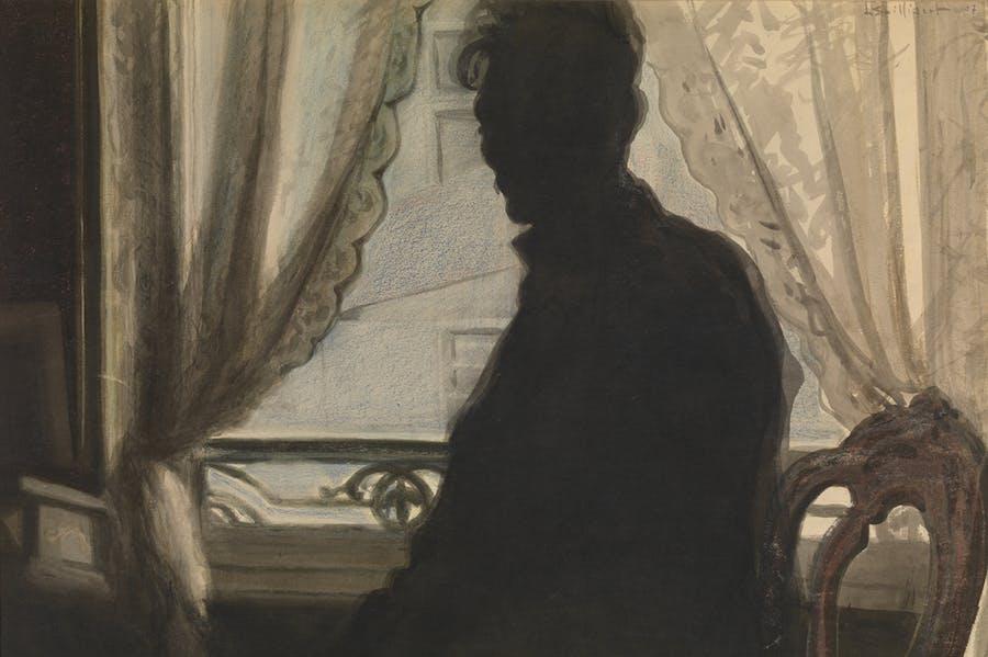 The Silhouette of the Artist (1907), Léon Spilliaert. Museum voor Schone Kunsten, Ghent. Photo: Hugo Maertens