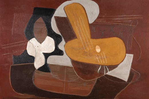 Mandoline et portée de musique (1923), Pablo Picasso. Dickinson, price on application