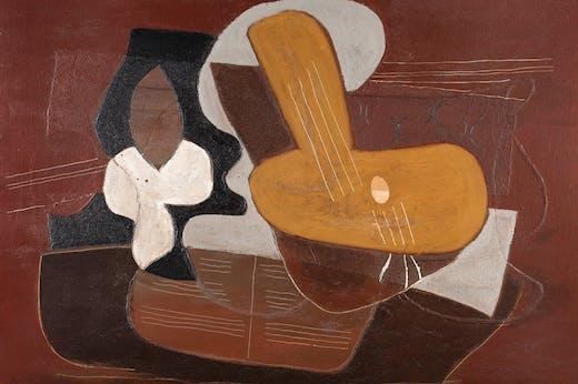 Mandoline et portée de musique (1923), Pablo Picasso. Dickinson, price on application