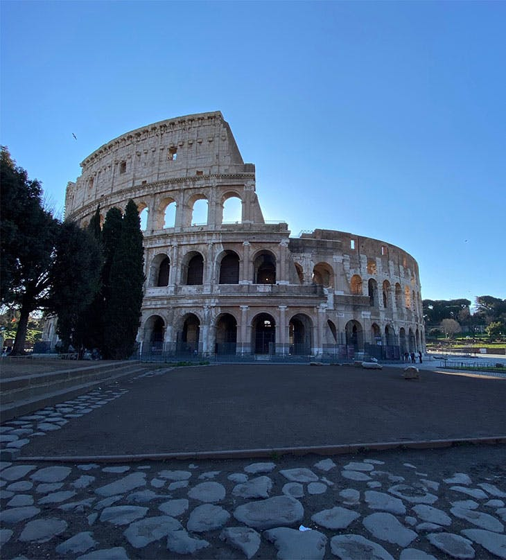 The Roman Colosseum on 8 March 2020.
