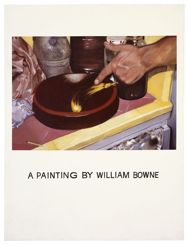 Commissioned Painting: A Painting by William Bowne (1969), John Baldessari.