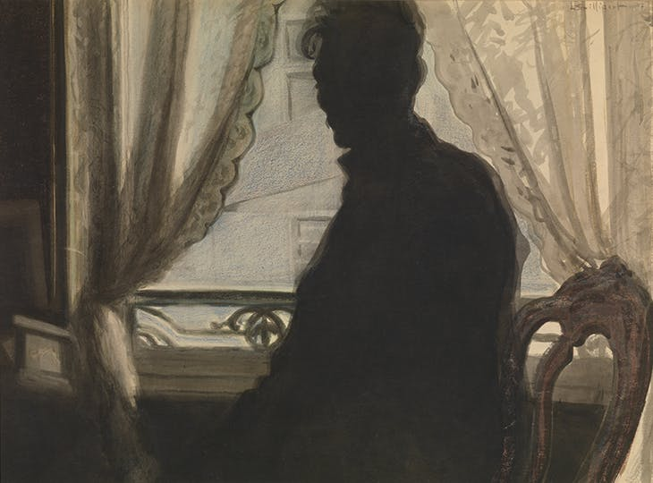 Silhouette of the Artist (1907), Léon Spilliaert. Museum voor Schone Kunsten, Ghent.