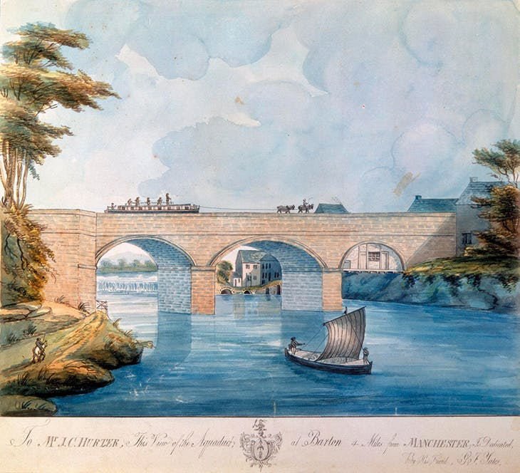 The Aqueduct at Barton (c. 1793), G.F. Yates.