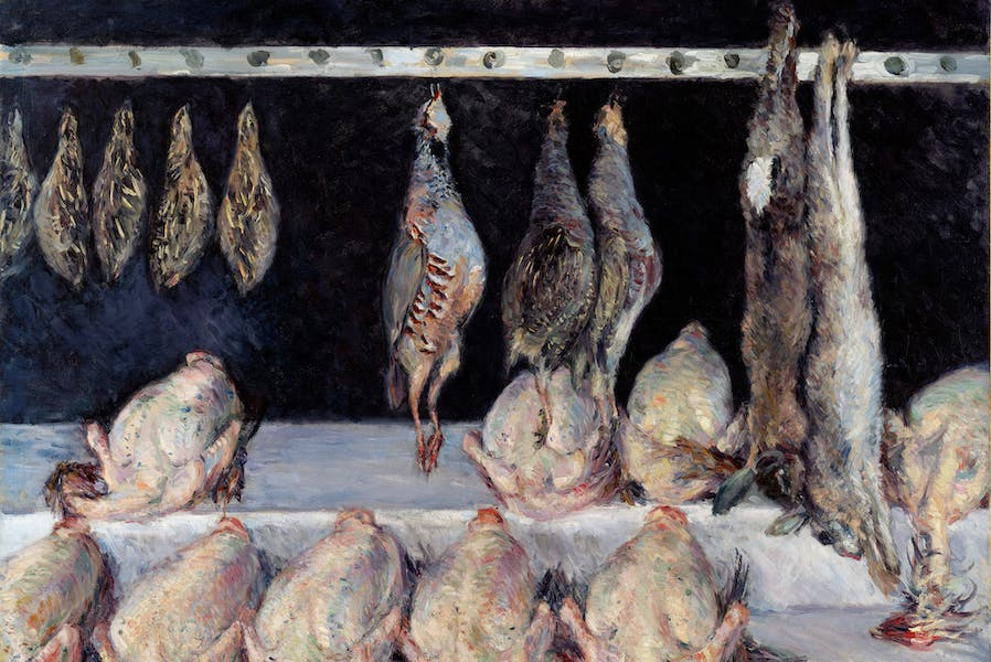 Chicken, Game Birds, and Hares (c. 1882), Gustave Caillebotte.
