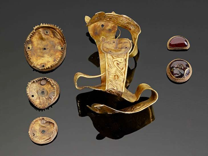 Great Cross and associated mounts, from the Staffordshire Hoard