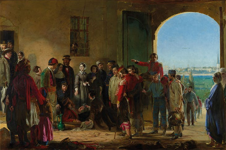 The Mission of Mercy: Florence Nightingale receiving the Wounded at Scutari (1857), Jerry Barrett. National Portrait Gallery, London