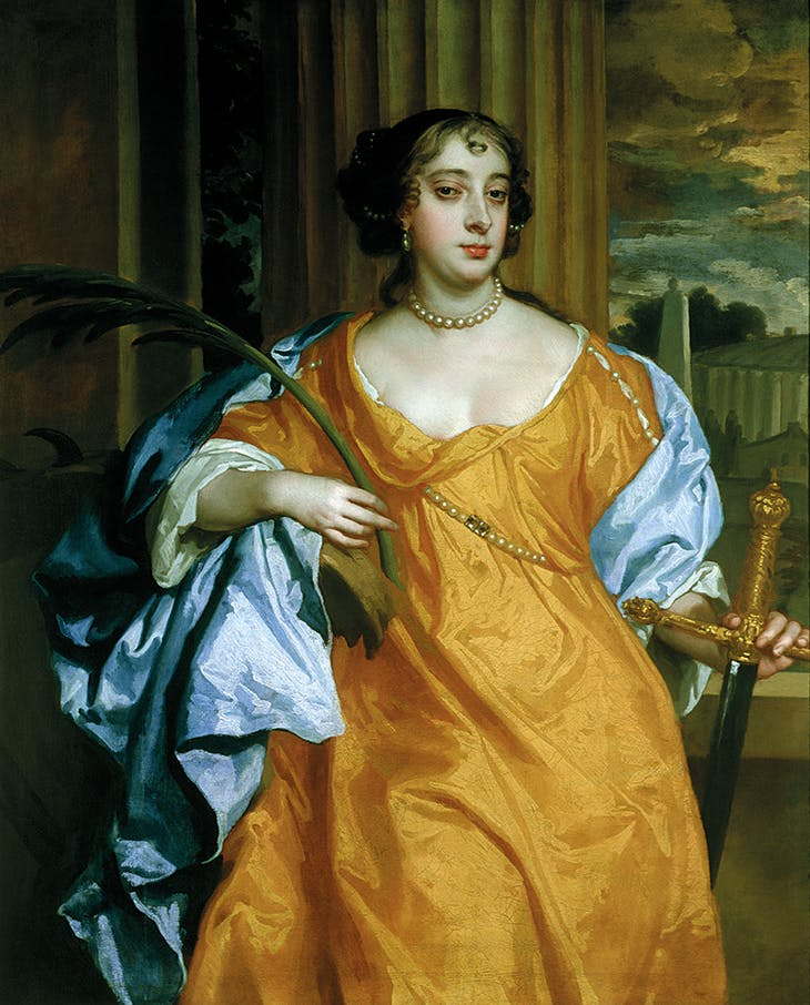 Barbara Villiers, Duchess of Cleveland as St Catherine of Alexandria (c. 1665–70), Peter Lely. Private collection. Photo: Bridgeman Images