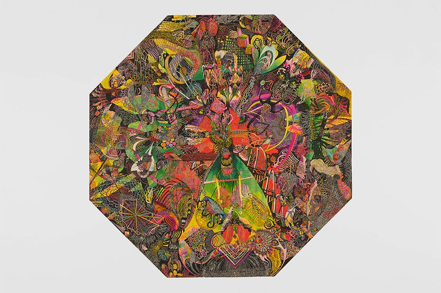 Octagonal Drawing (1976), Ann Churchill.