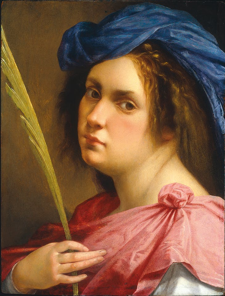 Self-Portrait as a Female Martyr (c. 1613–14), Artemisia Gentileschi. Private collection.