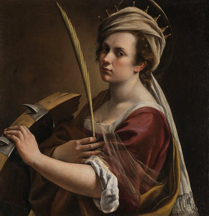 Self-Portrait as Saint Catherine of Alexandria (c. 1615–17), Artemisia Gentileschi. National Gallery, London