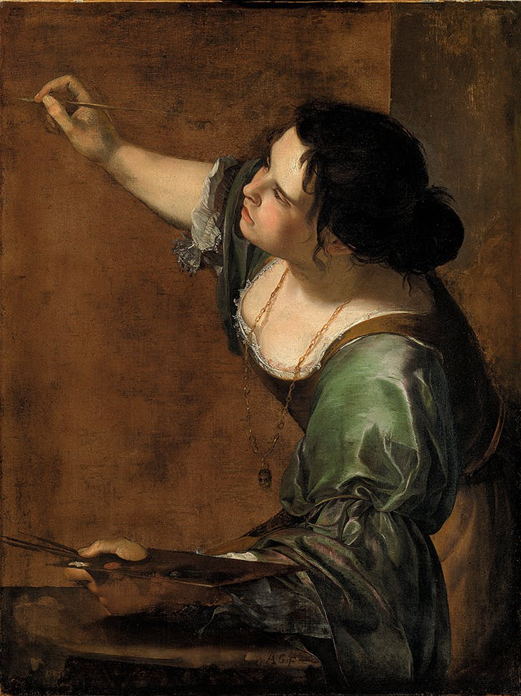 Self-Portrait as the Allegory of Painting (La Pittura) (c. 1638–39), Artemisia Gentileschi.