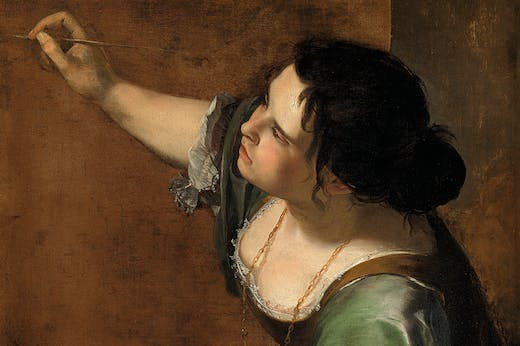 Self-Portrait as the Allegory of Painting (La Pittura) (detail; c. 1638–39), Artemisia Gentileschi.