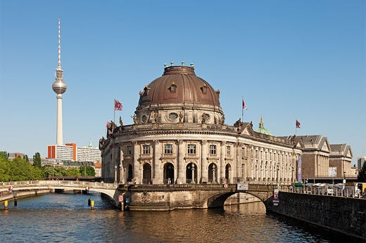 A view of Museum Island and the Bode Museum in Berlin.
