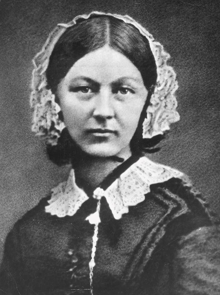 Florence Nightingale photographed by Henry Hering in 1856–57; half-plate glass copy negative by Elliot & Fry in the 1950s. National Portrait Gallery, London