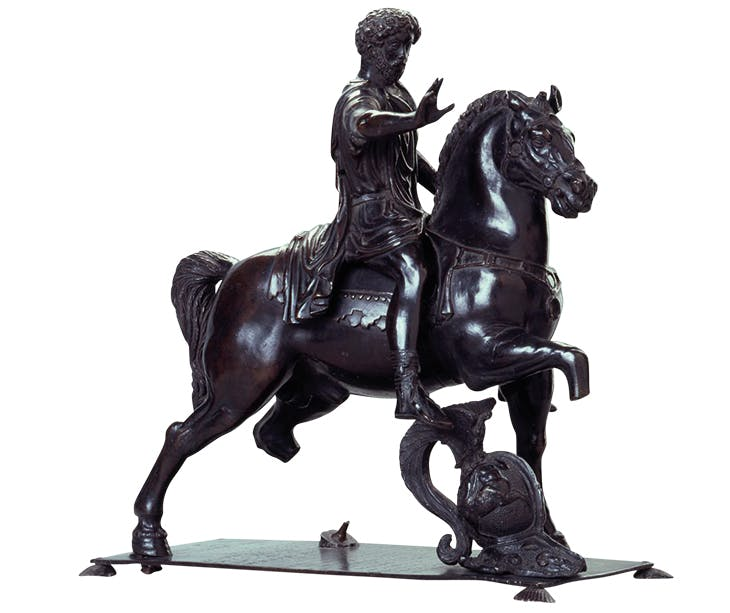 Equestrian statuette of Marcus Aurelius (c. 1440–45), Filarete. Gemäldegalerie Alte Meister, Dresden.