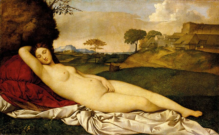 Sleeping Venus (c. 1508–10), Giorgione and Titian. Gemäldegalerie Alte Meister, Dresden.