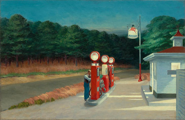 Gas (1940), Edward Hopper.
