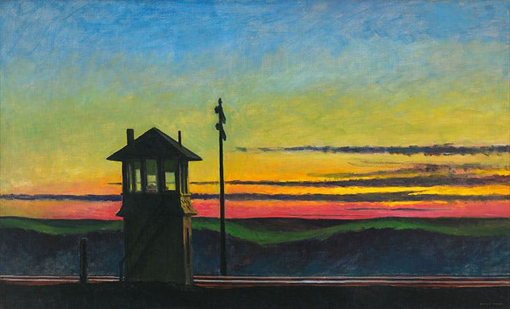 Railroad Sunset (1929), Edward Hopper.