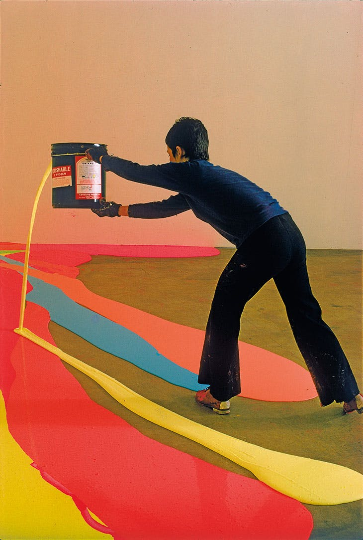 Fling, Dribble, and Drip (1970), Lynda Benglis, frontispiece of Jerry Saltz's How to be an Artist (2020).